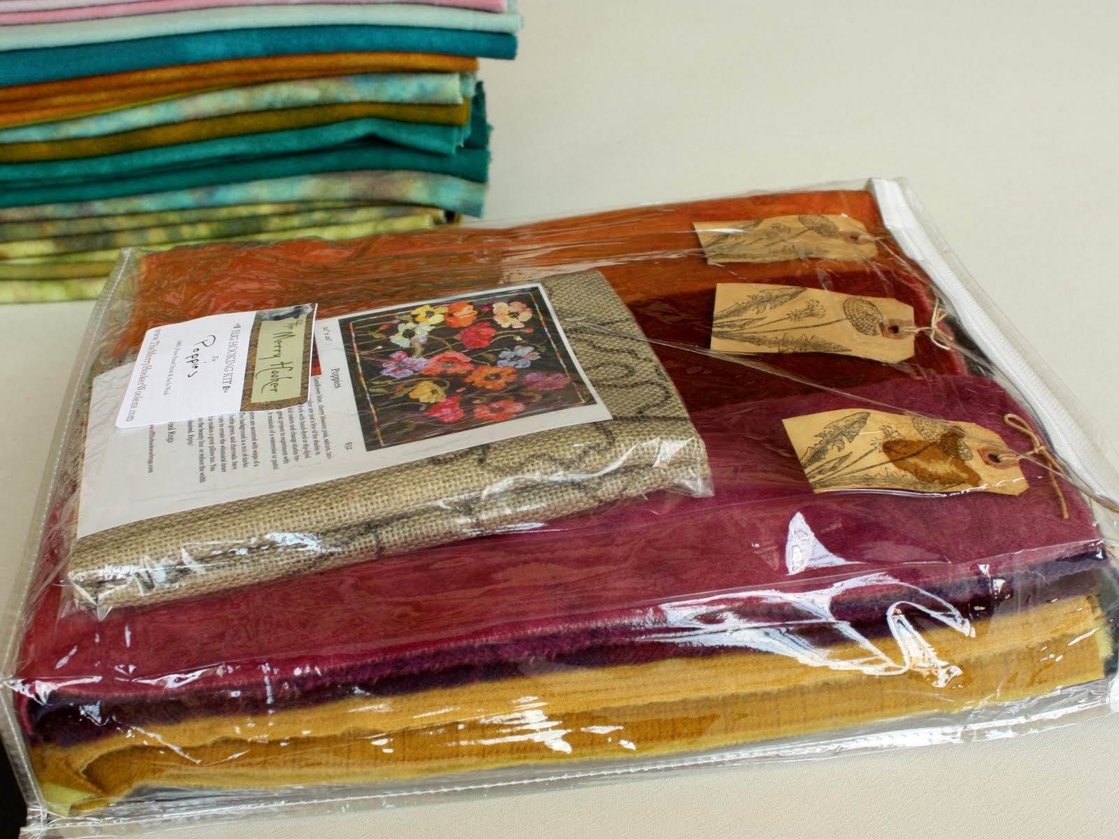 Charming Primitive Rug Hooking Kits U0026 Patterns From Lacey Jane Primitives. All  Packaged Up And Ready To Send Off To The Hooker Who Will Turn This Into