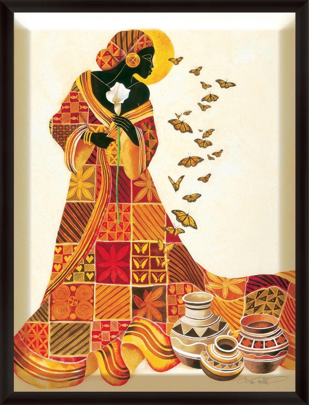 pintura negras africanas arte al óleo y acrílico cuadros y