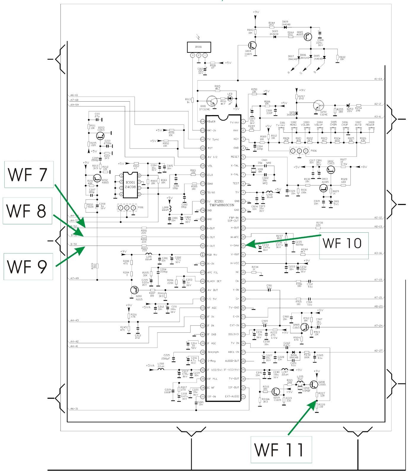 tcl ctr1042  u2013 ctr2014  u2013 ctr2116  u2013 ctr2516 - power supply smps - horizontal output
