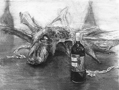 横浜美術学院の中学生教室 美術クラブ 手で描く!指で描く!「木炭デッサン」 作品3