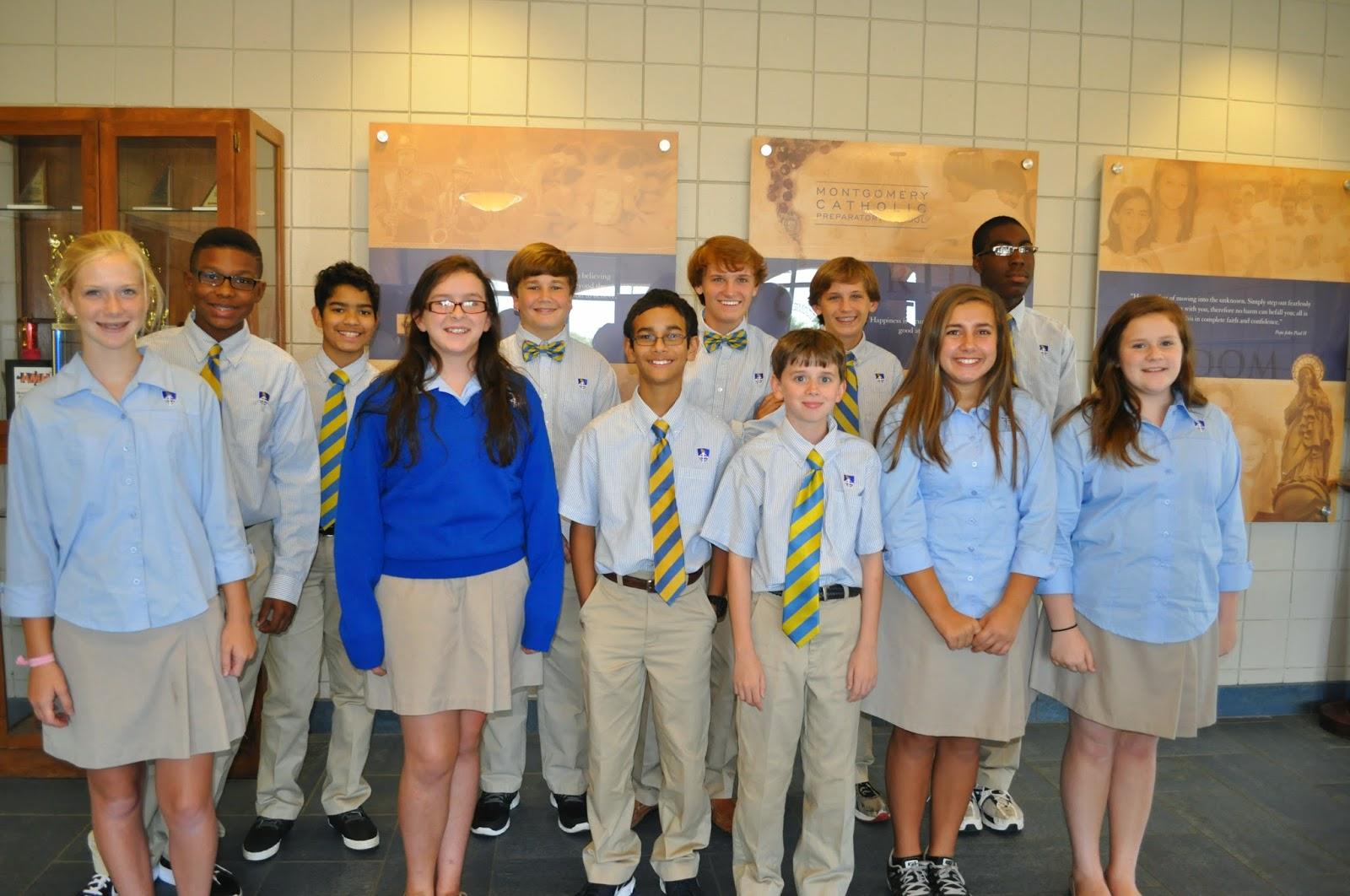 Catholic Middle School Students Named Knight Ambassadors 1