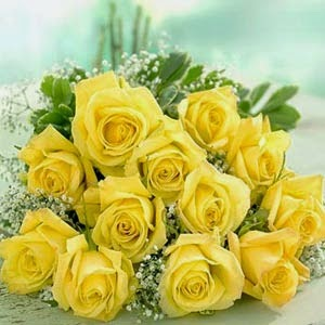 Long Stem Yellow Roses bunch delivery in Cameroon