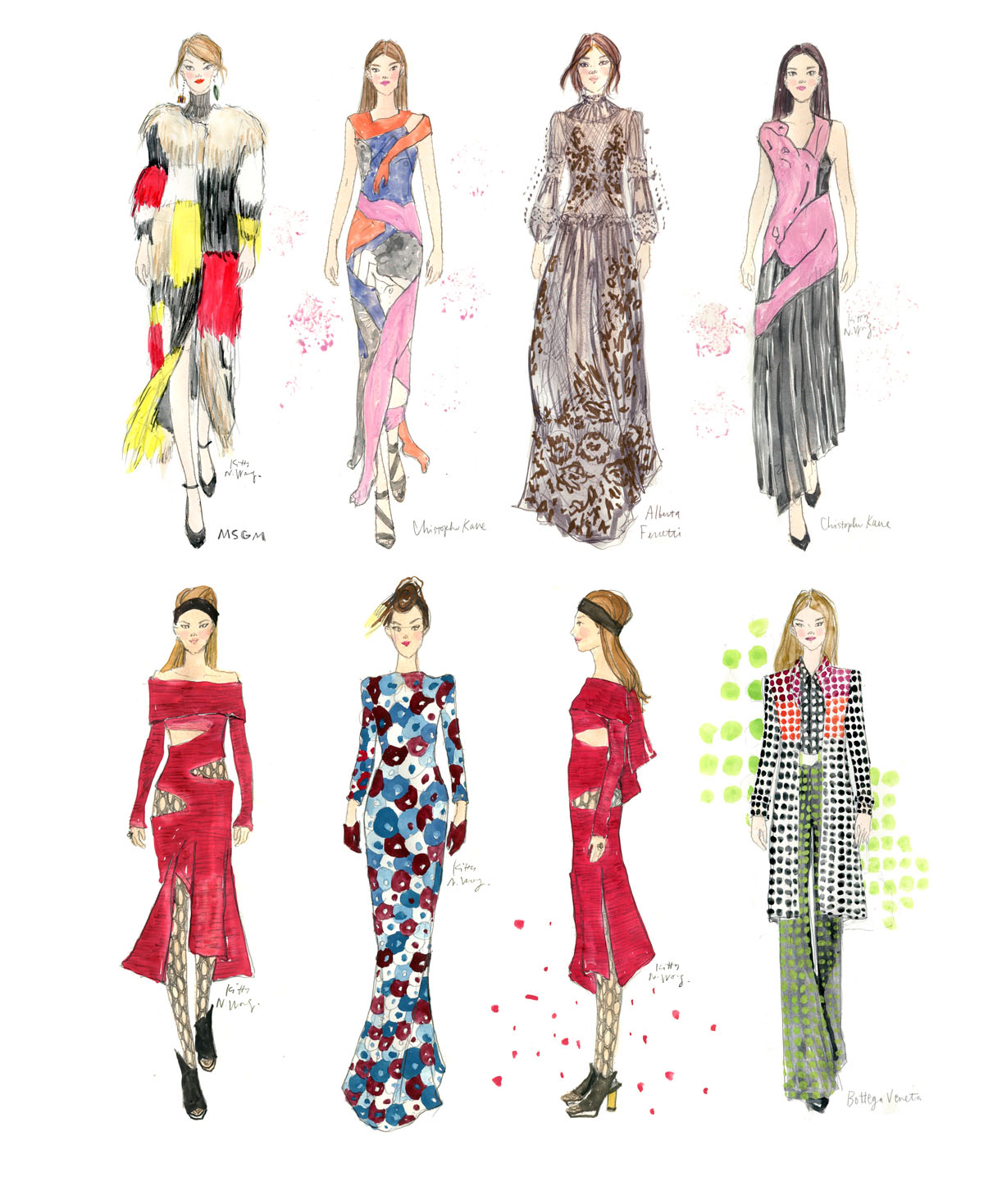 Kitty N. Wong / Fashionary Sketches