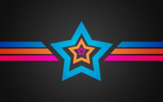 Estrella de Colores para Facebook