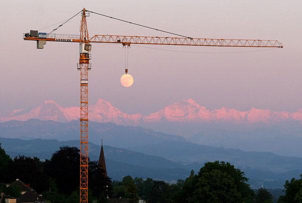 Fotos tiradas no momento exato -  lua