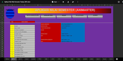 Aplikasi Olah Nilai Semester Siswa Terbaru 2016
