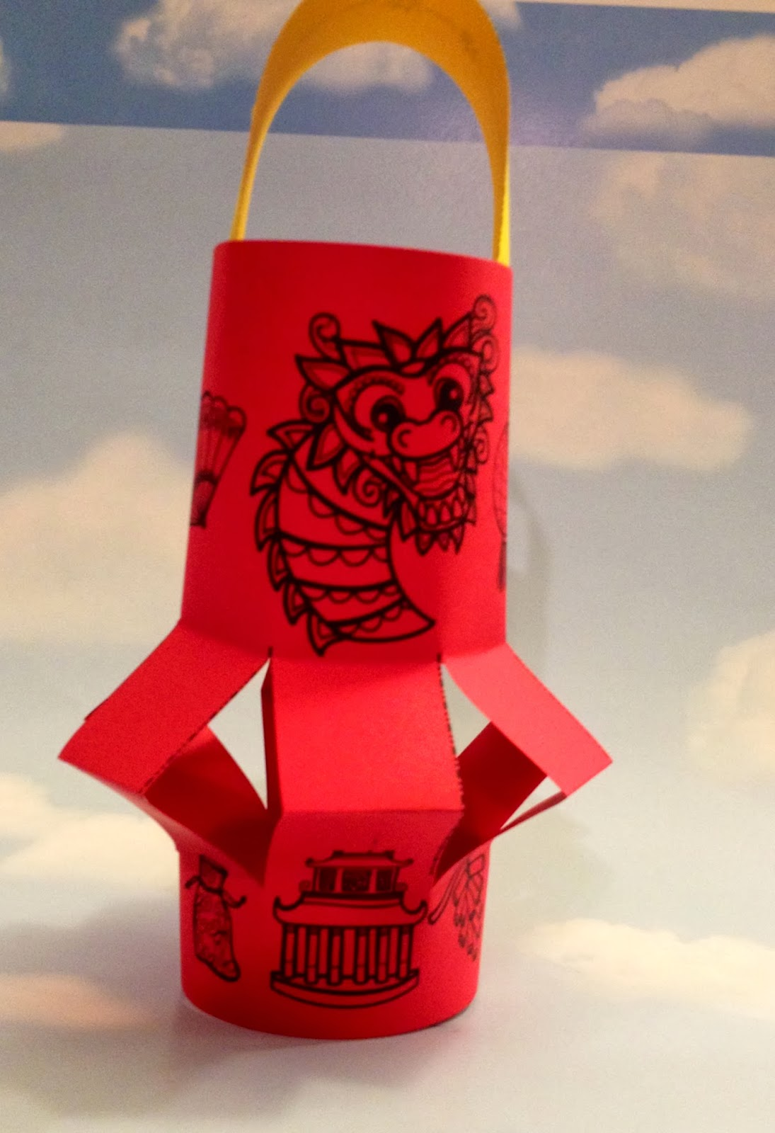 chinese new year lantern pattern