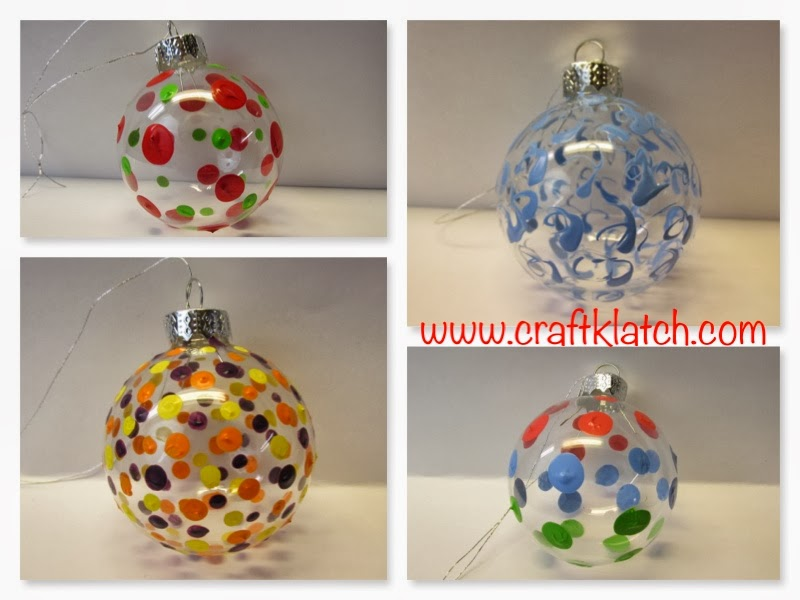 Craft Klatch Fun Painted Christmas Ornaments How To