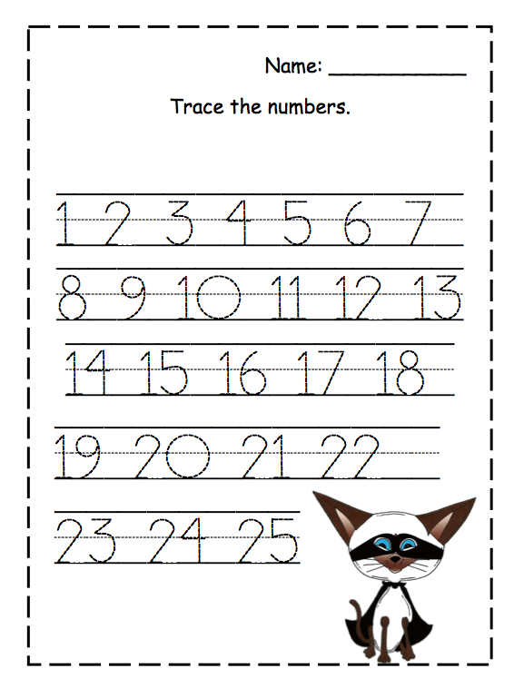 Tracing Worksheets Numbers 1 100. Images Of 1 To 50 Multiplication ...