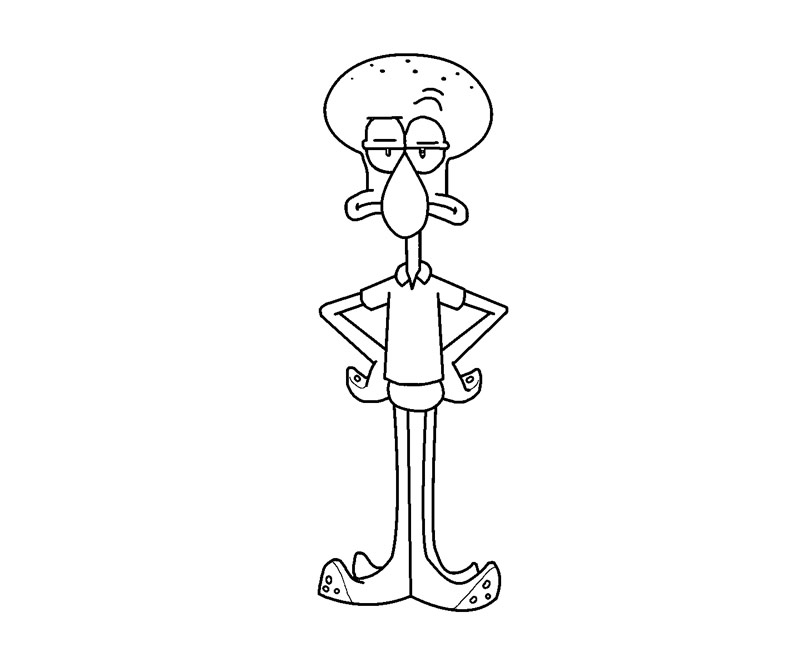 Squidward Free Colouring Pages Squidward Coloring Pages