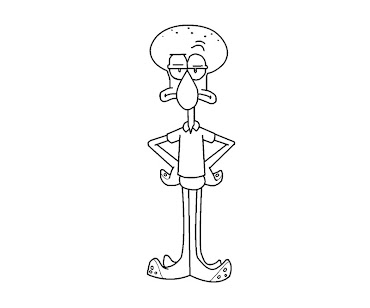 #8 Squidward Coloring Page