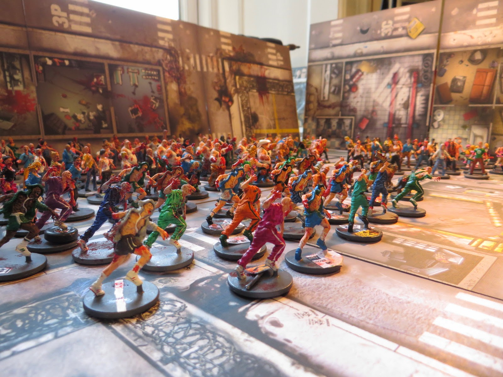 Zombicide, Zombies, all, painted, survivors, apocalyptic,