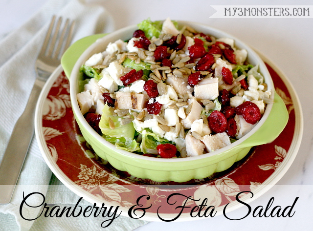 Cranberry and Feta Salad recipe at my3monsters.com