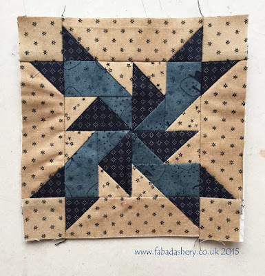 Miniature Block of the Month October 2015 - The Quilt Room