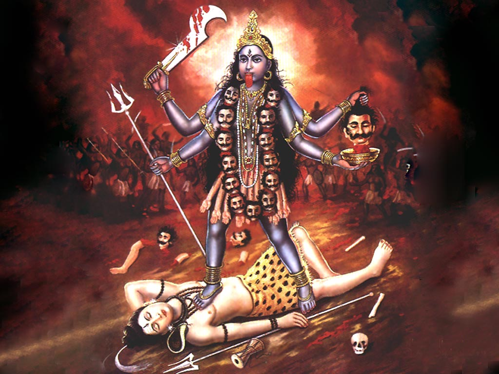 "kali maa Painting of youthful tara as seen by the ""mad saint"" bamakhepa during his cremation ground darshan kali gazing upon her  lord maa kali is also known as."