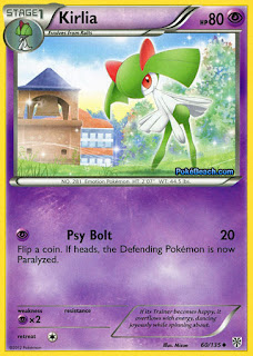 Kirlia Plasma Storm Pokemon Card