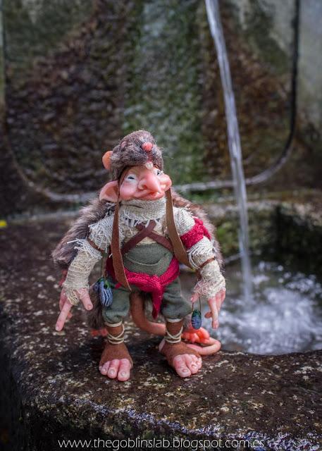 ooak muñeco artesanal duende elfo hada rata
