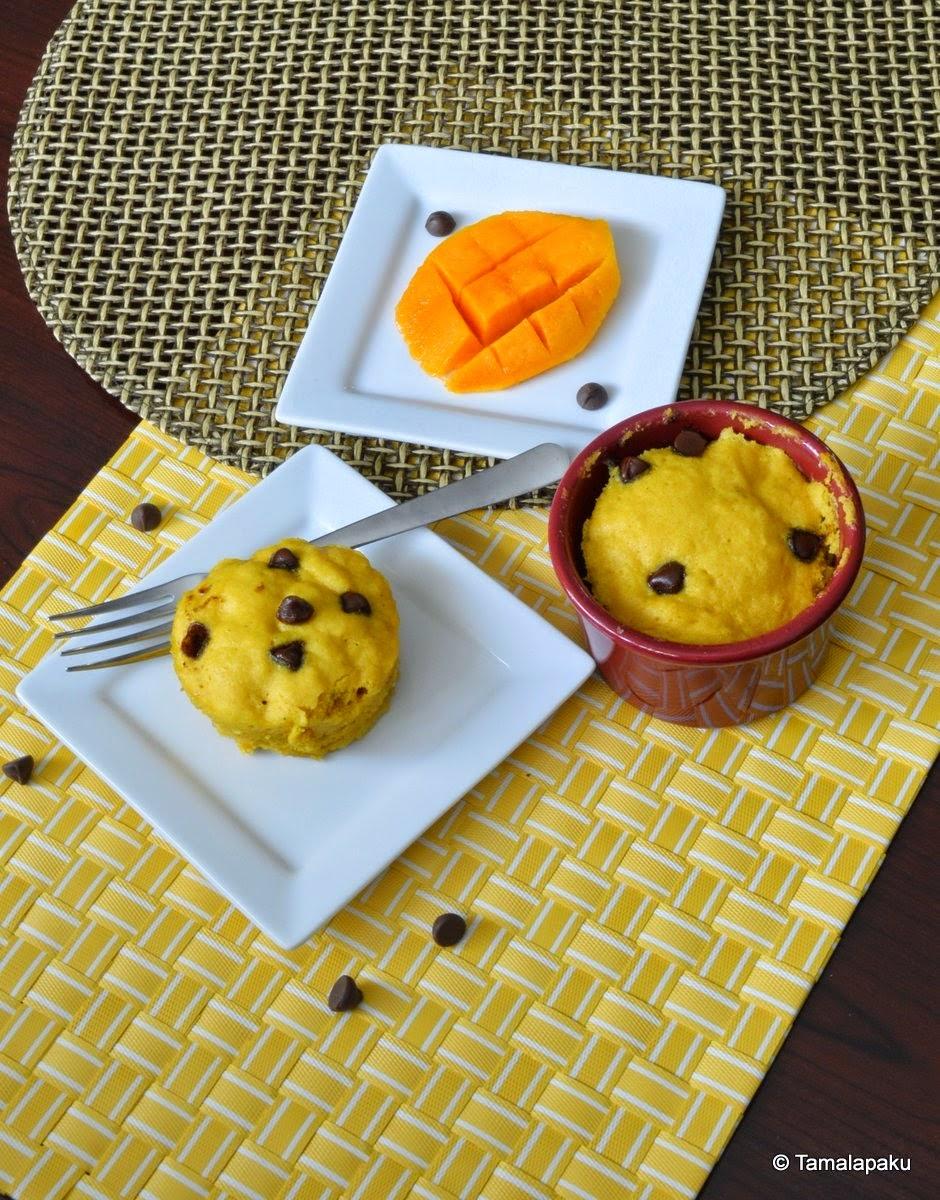 Eggless Mango Mug Cake ~ Tamalapaku