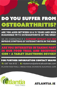 Food Trial in Cork for anyone with Osteoarthritis of the Knee