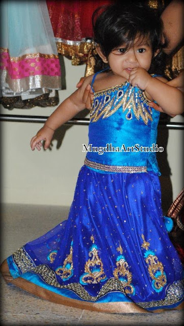 Pretty Baby in Work Lehenga