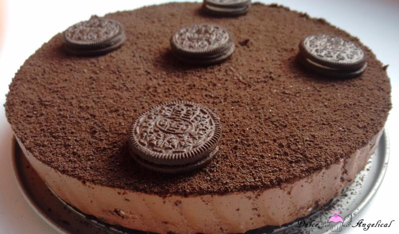 Resultado final de la Tarta de Oreo y chocolate