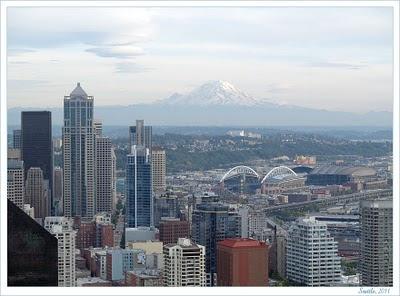 Seattle view from Space Needle. Sietlo vaizdas iš Kosmoso adatos bokšto