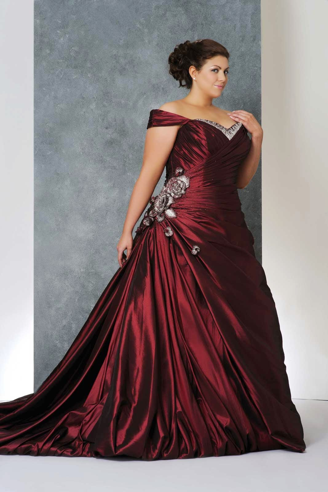 Colored Wedding Dresses for Plus Size Women Photos HD Concepts