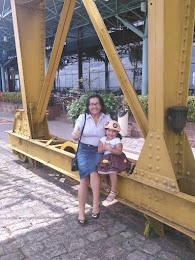 Eu e a Marina Nancy- nas Docas em Belém do Pará-