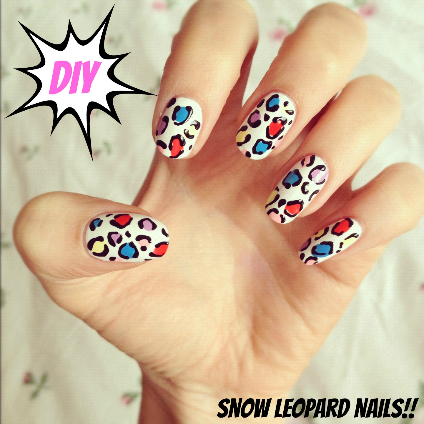 Easy Nail Art: DIY Snow Leopard Nail Art!