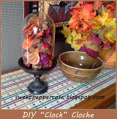 Glass Cloche from Clock