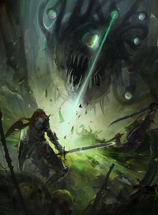 Richard Anderson flaptraps arte conceitual ilustrações pinturas games fantasia ficção científica Beholder - batalha Dungeons and Dragons