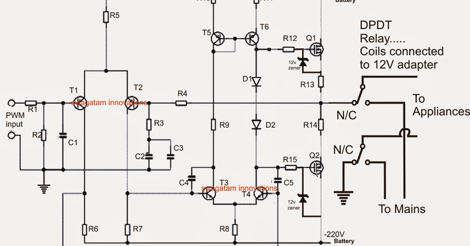 1000 Watt Ups Circuit Skema Elektronika