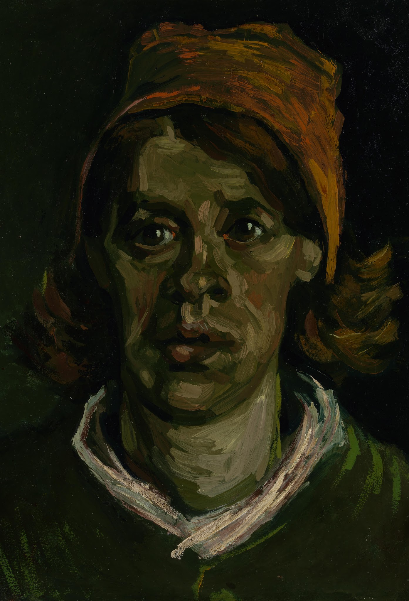 Head of a Peasant Woman with Red Cap (F 160, JH 648) by Vincent van Gogh