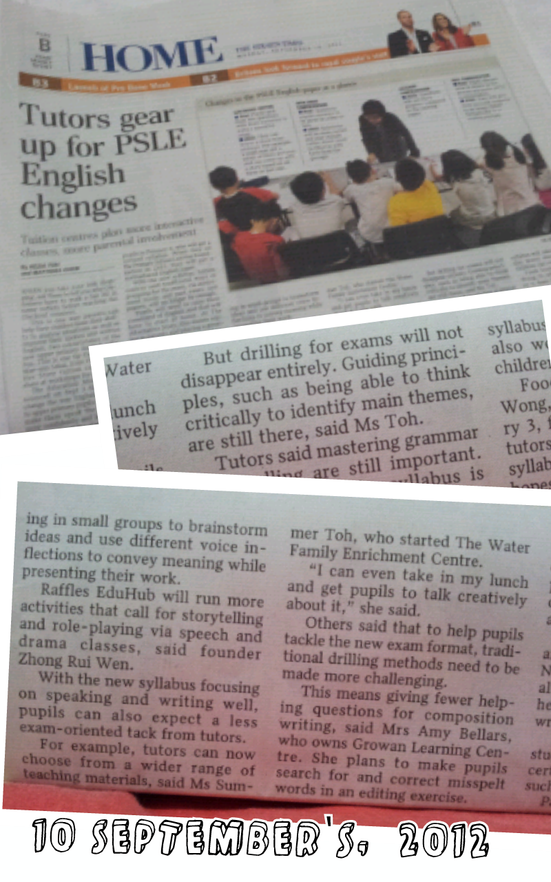 The Straits Times, 10 September 2012