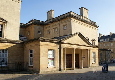 The entrance to the Upper Rooms, Bath