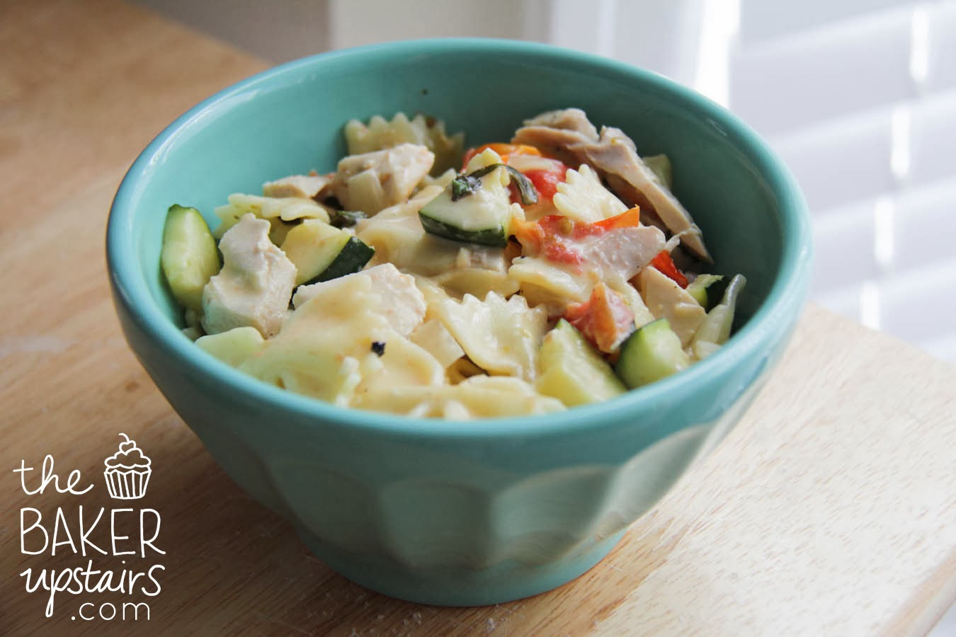 The Baker Upstairs: farfalle with zucchini