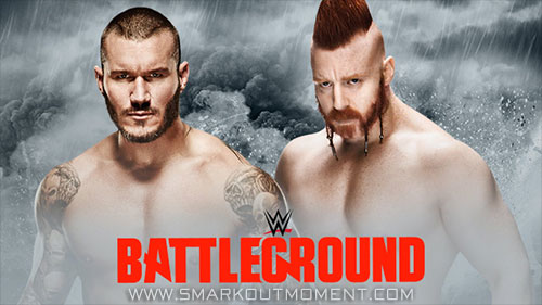 WWE Battleground 2015 Event Sheamus vs Randy Orton singles match