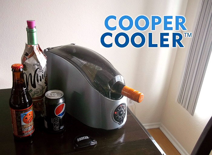 Cooper Cooler Rapid Beverage Chiller can chill cans in 1 minute, or bottles in 3.