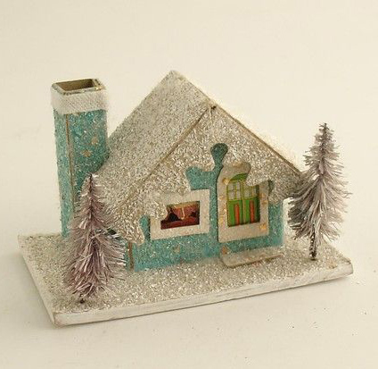 Beatuful house christmas for cards