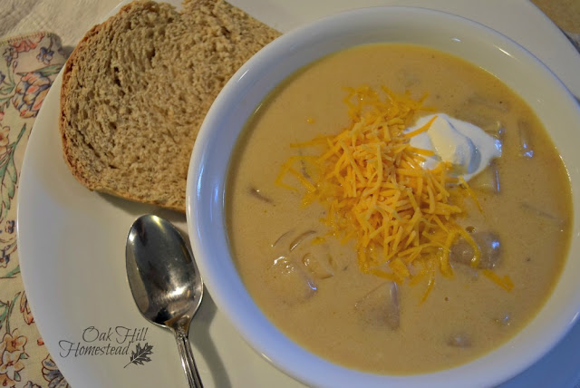 Easy Crockpot Potato Soup from scratch.