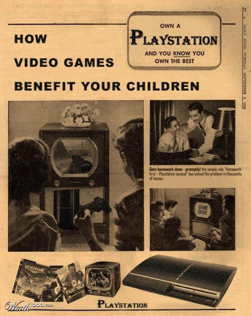 anúncios vintage - produtos modernos - Playstation