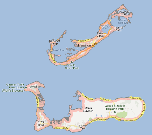 Cayman Vs Bermuda Cayman Expat - Bermuda islands map