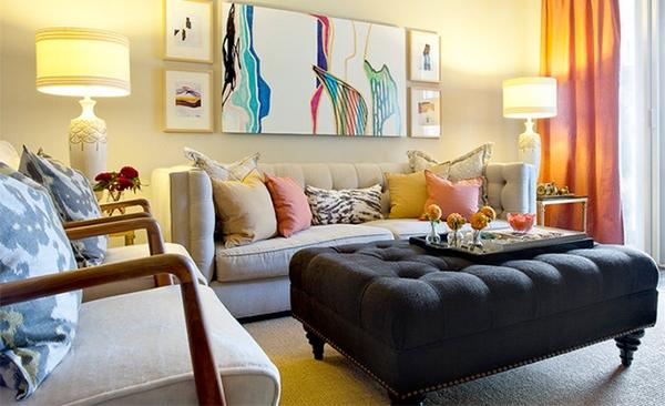 inspirasi desain meja utama ruang tamu unik rancangan