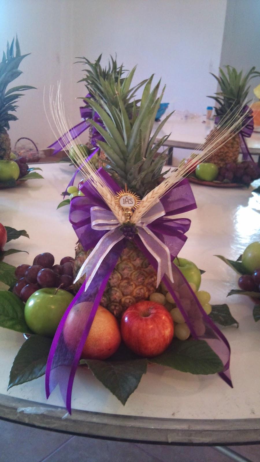 Pasticetas arreglos frutales para centro de mesa for Centros de frutas