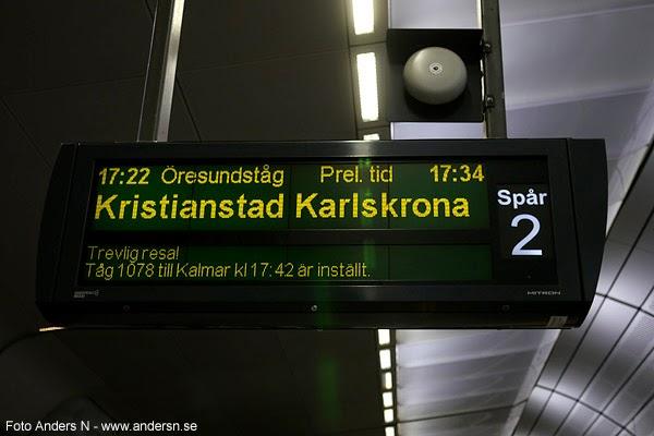 försenat tåg