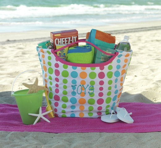 Monogrammed Beach Towel And Bag Set: The Letter Tree: Monogrammed Beach Bags, Towels & More