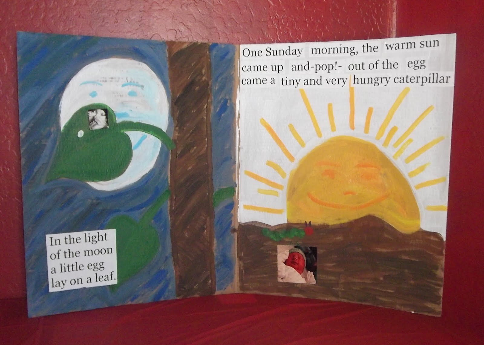 The Very Hungry Caterpillar Pages recreated by Monica Jamer