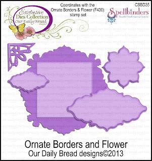 Dies - ODBD Custom Ornate Borders and Flower