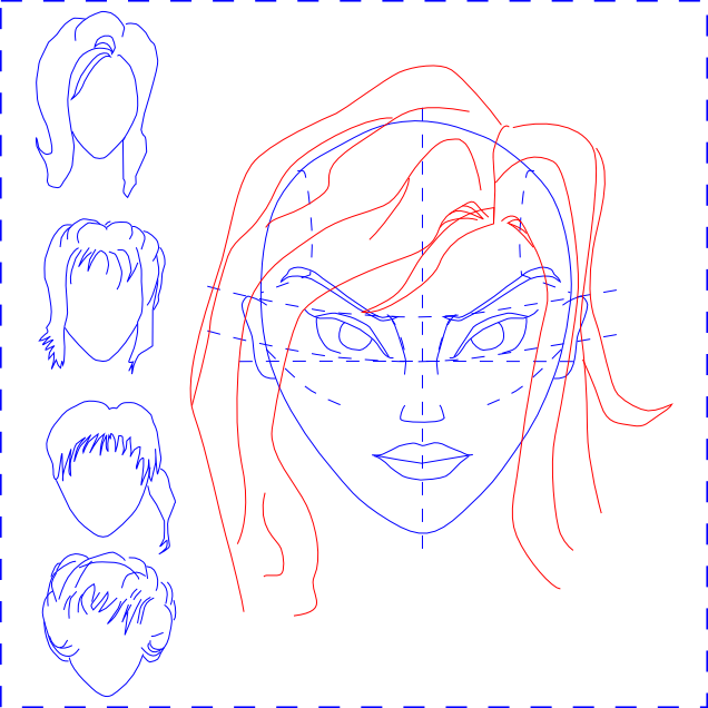 Woman's Face - Draw Hair