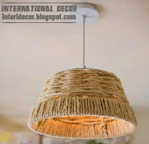 DIY beautiful chandelier with rope, diy chandelier